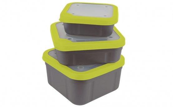 Matrix Baitbox grey / lime perforated lid